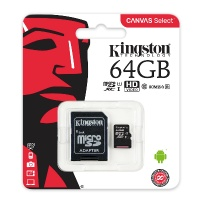 "Atmiņas karte microSD ""Kingston"" 64Gb SDHC (10 class, UHS-I)  ― DELTAMOBILE"