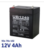 Svina-skābes (Lead-acid) akumulators 12V 4Ah (4.5Ah) ― DELTAMOBILE