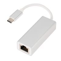 LAN (Rj45 ethernet) adapteris  no microUSB type-C (Macbook,PC) ― DELTAMOBILE