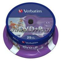 Verbatim DVD+R 4.7Gb 16X Full Printable Cake 25 ― DELTAMOBILE