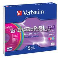 Verbatim DVD+R 8.5Gb 8X Double Layer Color Slim ― DELTAMOBILE