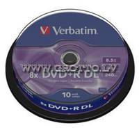 Verbatim DVD+R 8.5Gb 8X Double Layer Cake 10 ― DELTAMOBILE