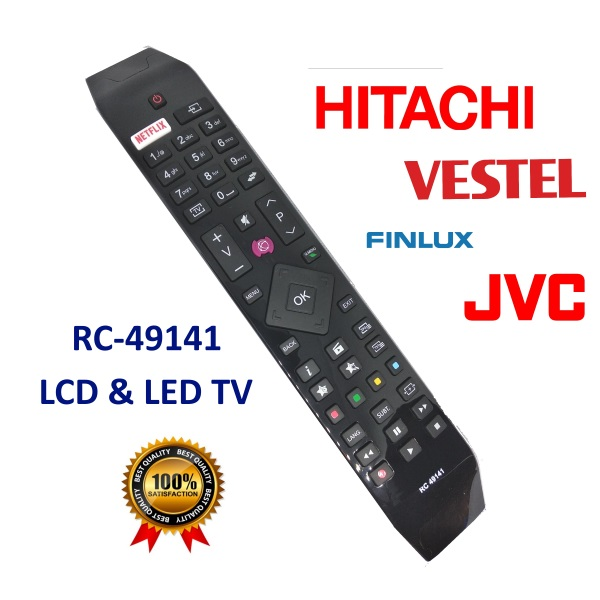 Remote control for Vestel, Finlux, JVC, Telefunken, Hitachi RC49141